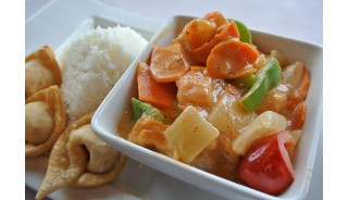 Weekly Dinner Special - Panang Curry Shrimp (Thai Combo)