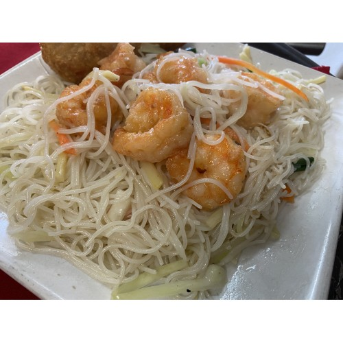 0weekly lunch special  shrimp mei fun  great wall to go